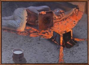 "Artist, Michael Buesking ""Ezekiel Laying Siege to Jerusalem"""